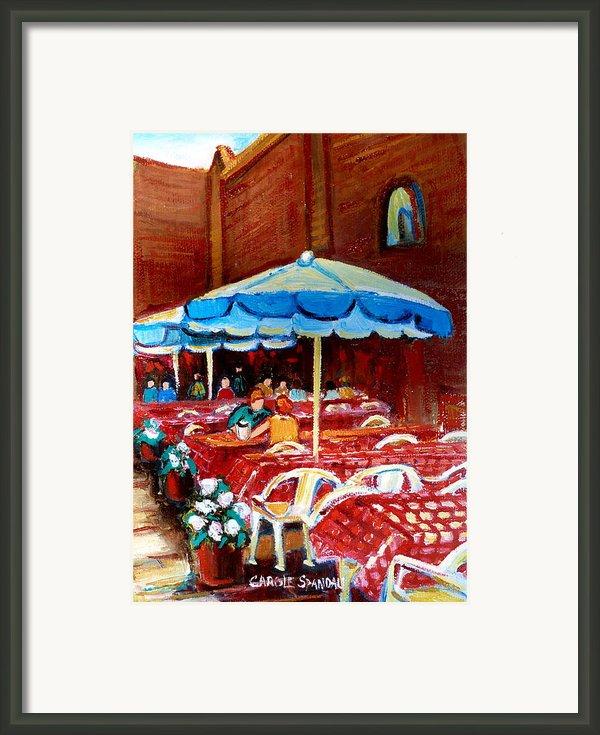 Rue Prince Arthur Framed Print By Carole Spandau