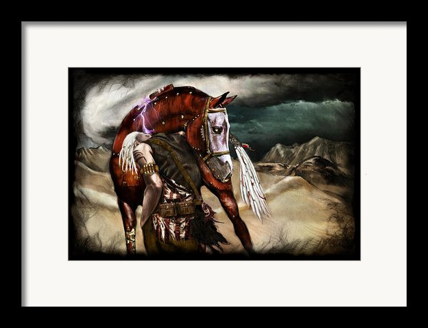 Ruined Empires - Skin Horse  Framed Print By Mandem