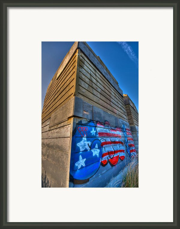 Ruins Graffiti Framed Print By Mike Horvath
