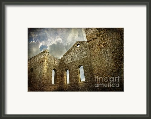Ruins Of A Church In Ontario Framed Print By Sandra Cunningham