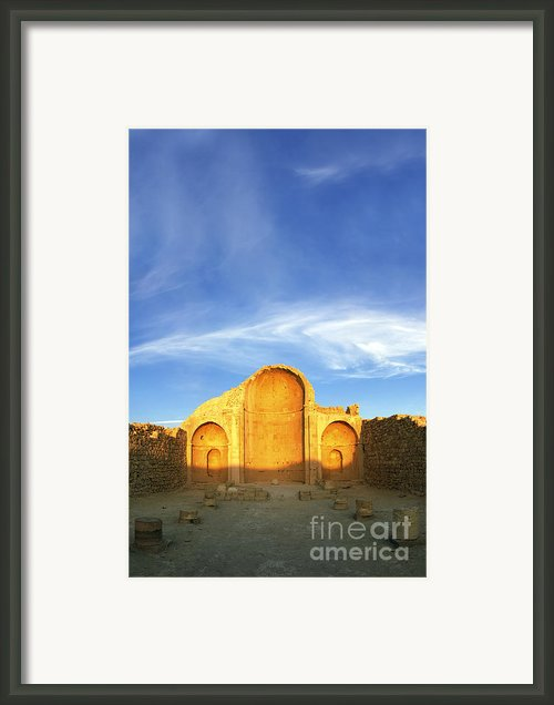 Ruins Of Shivta Byzantine Church Framed Print By Nir Ben-yosef