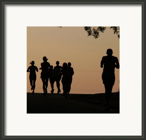 Running Framed Print By Angela Wright