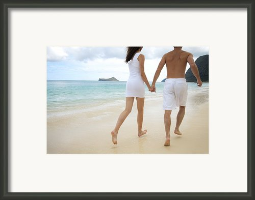 Running On The Beach Framed Print By Brandon Tabiolo - Printscapes