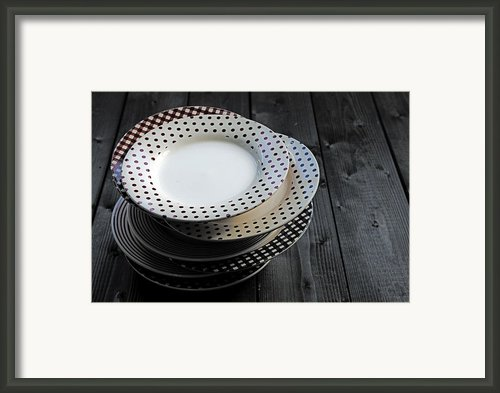 Rural Plates Framed Print By Joana Kruse