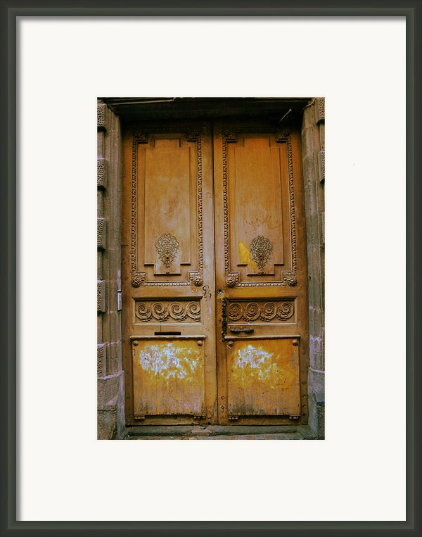 Rustic French Door Framed Print By Georgia Fowler