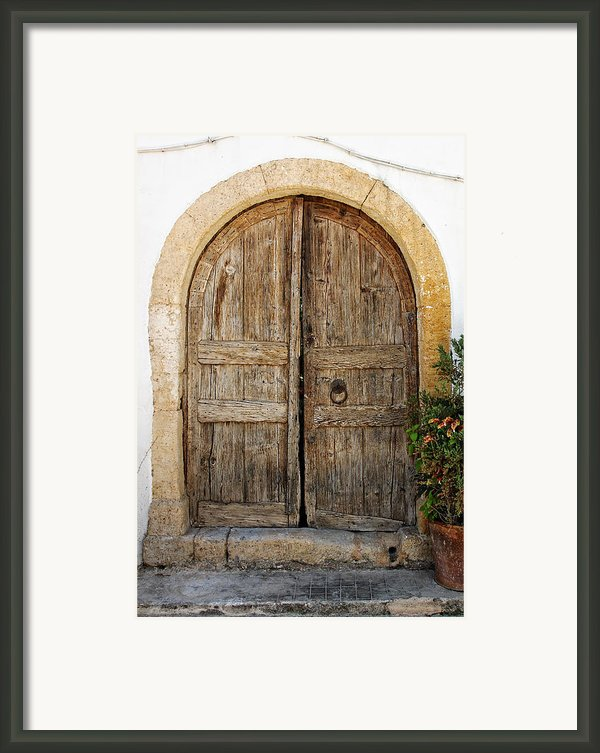 Rustic Gates Framed Print By Paul Cowan