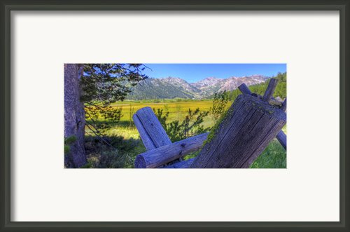 Rustic Moss Covered Pioneer Era Fence In Olympic Valley California Framed Print By Scott Mcguire