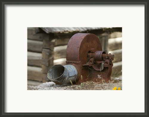 Rusty Blower Framed Print By Jojo Photography
