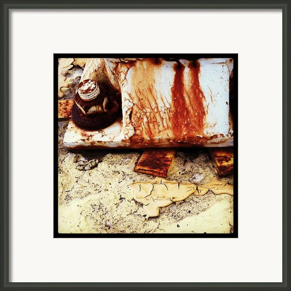 Rusty Bolt Abstraction Framed Print By Anna Villarreal Garbis