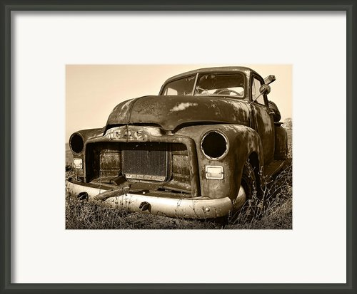 Rusty But Trusty Old Gmc Pickup Framed Print By Gordon Dean Ii