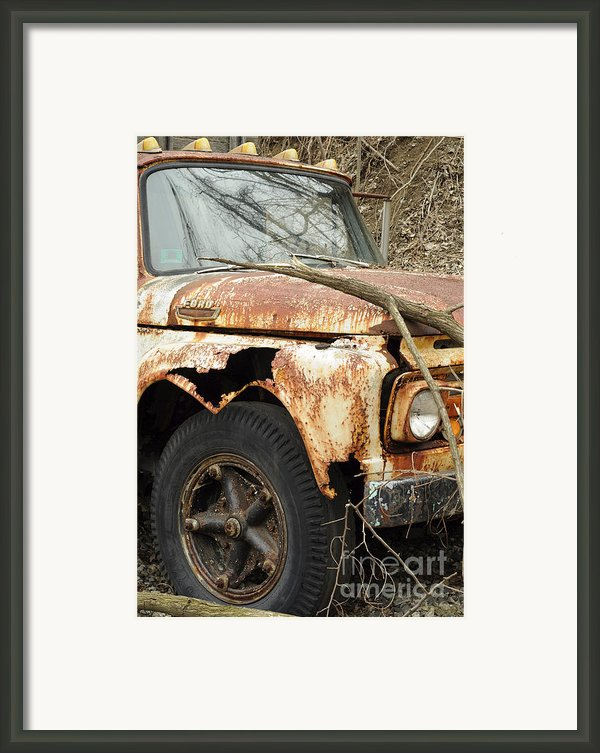 Rusty Ford Framed Print By Luke Moore