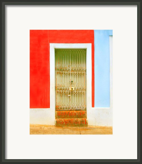 Rusty Iron Door Framed Print By Perry Webster