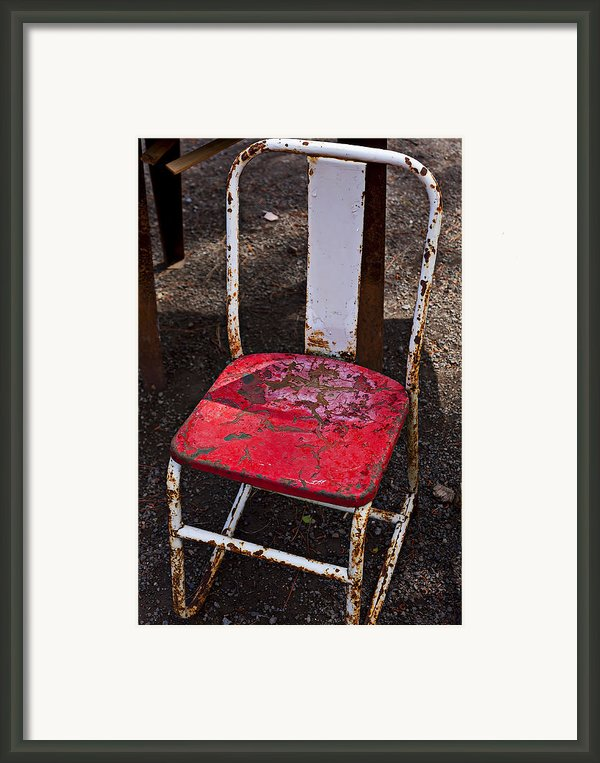 Rusty Metal Chair Framed Print By Garry Gay