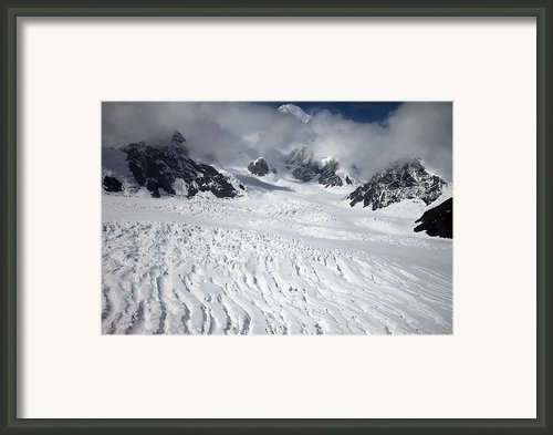 Ruth Glacier In Denali National Park Framed Print By Everett