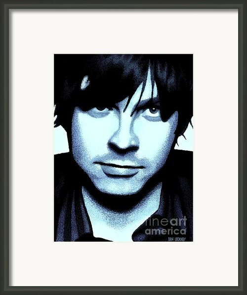 Ryan Adams Framed Print By Dan Lockaby