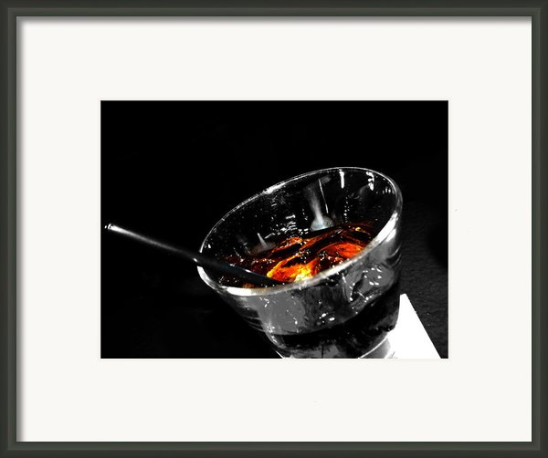 Rye And Coke Please Framed Print By Jerry Cordeiro