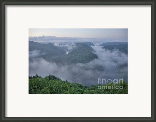 Saar Loop In The Morning Fog Framed Print By Heiko Koehrer-wagner