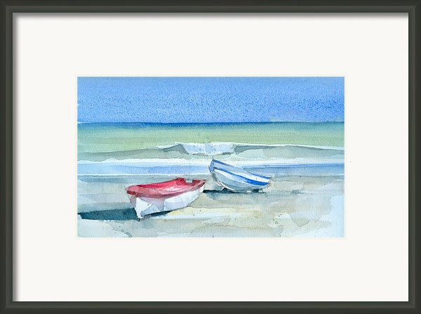 Sabinillas Fishing Boats Framed Print By Stephanie Aarons