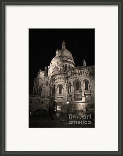 Sacre Coeur By Night Viii Framed Print By Fabrizio Ruggeri
