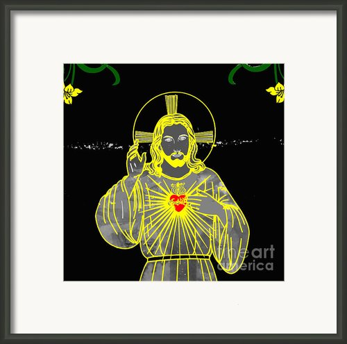 Sacred Heart Framed Print By Al Bourassa