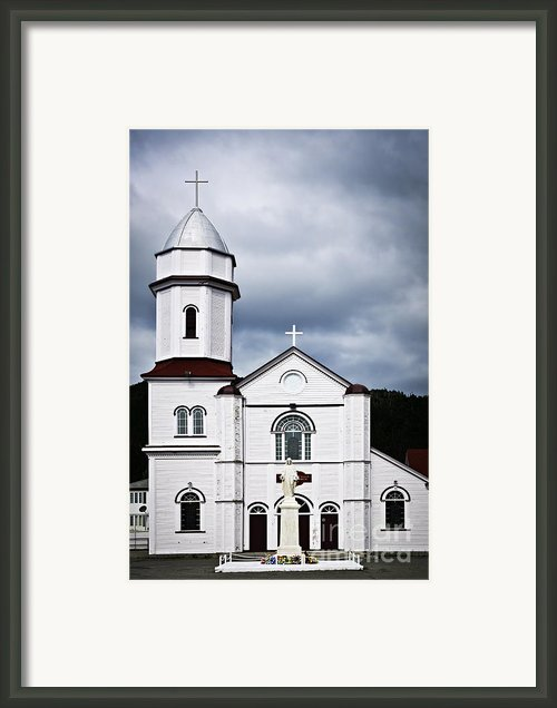 Sacred Heart Church In Placentia Newfoundland Framed Print By Elena Elisseeva