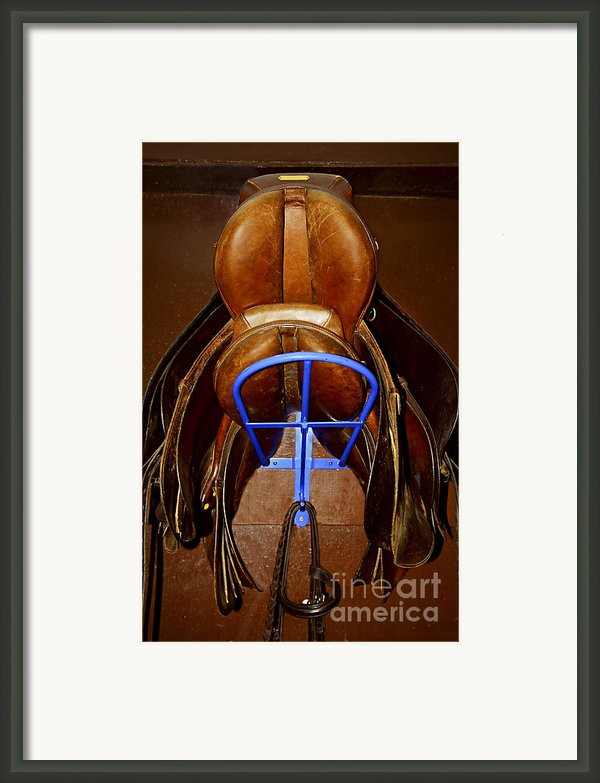 Saddles Framed Print By Elena Elisseeva