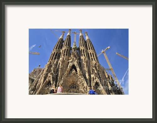 Sagrada Familia - Impressive Church From Gaudi In Barcelona Framed Print By Matthias Hauser