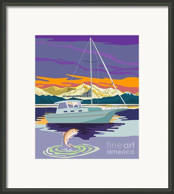 Sailboat Retro Framed Print By Aloysius Patrimonio