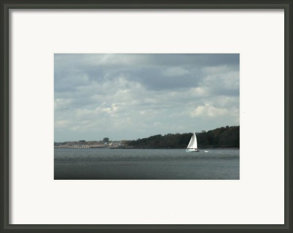 Sailboat Rounds South Beach Framed Print By Christopher Kirby