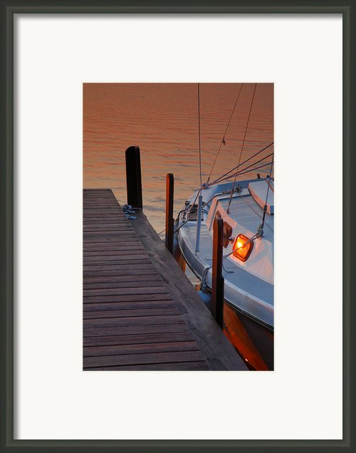 Sailboat Sunrise Framed Print By Steven Ainsworth