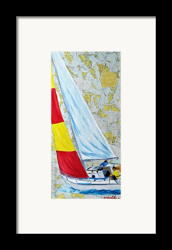 Sailing From The Charts Framed Print By Michael Lee