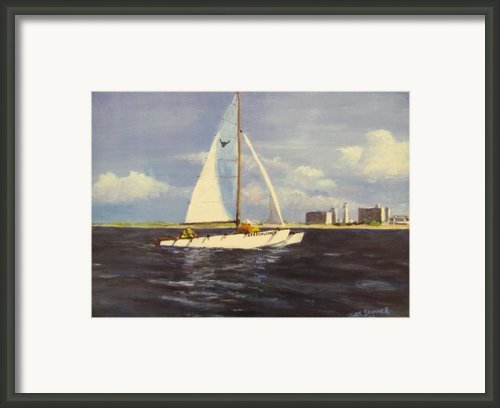 Sailing In The Netherlands Framed Print By Jack Skinner