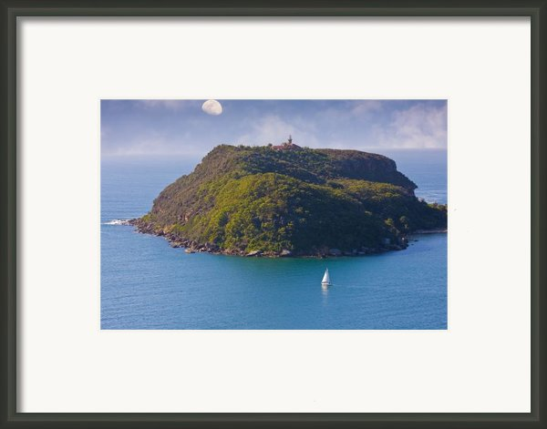 Sailing Ku-ring-gai Framed Print By Charles Warren
