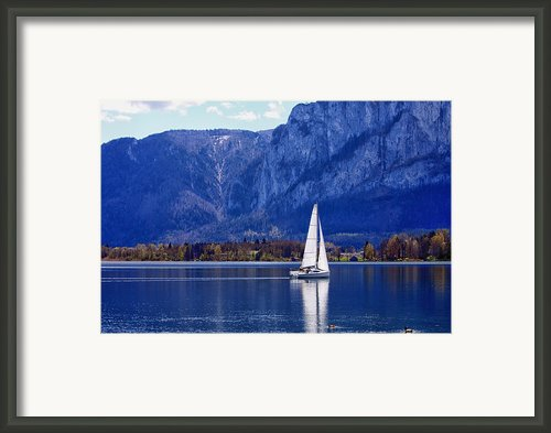 Sailing On Mondsee Lake Framed Print By Lauri Novak