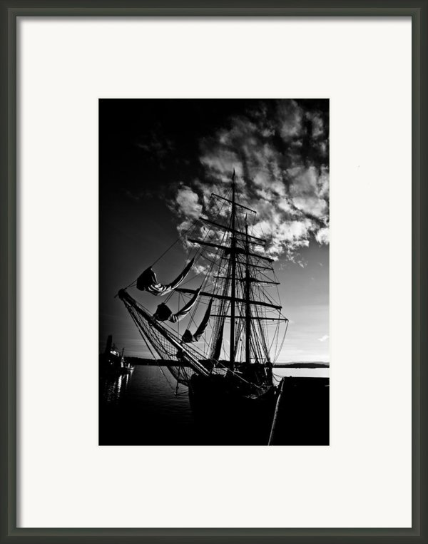 Sails In The Sunset Framed Print By Hakon Soreide