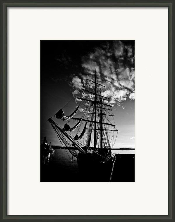 Sails In The Sunset Framed Print By Hakon Soreide