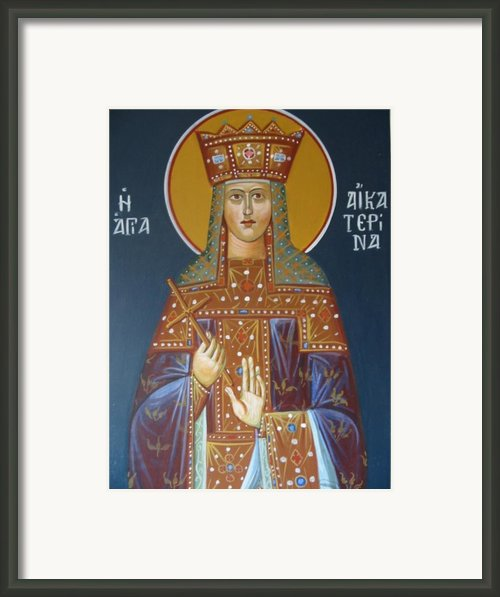 Saint Aekaterina Framed Print By George Siaba