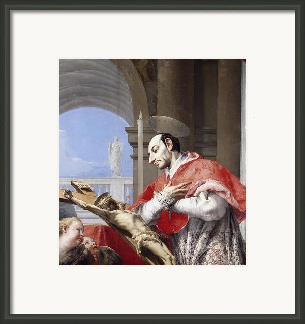 Saint Charles Borromeo Framed Print By Giovanni Battista Tiepolo