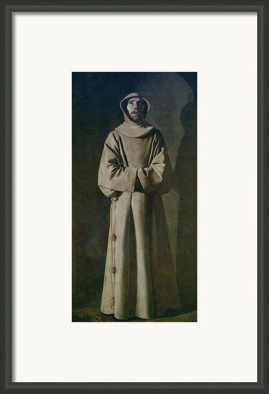 Saint Francis Framed Print By Francisco De Zurbaran