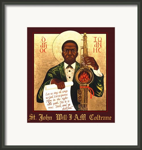 Saint John The Divine Sound Baptist Framed Print By Mark Dukes