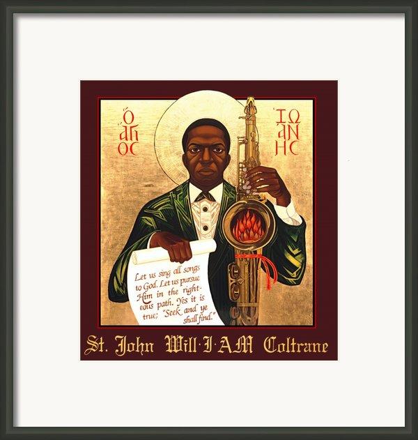 Saint John The Divine Sound Baptist Framed Print By Mark Dukes