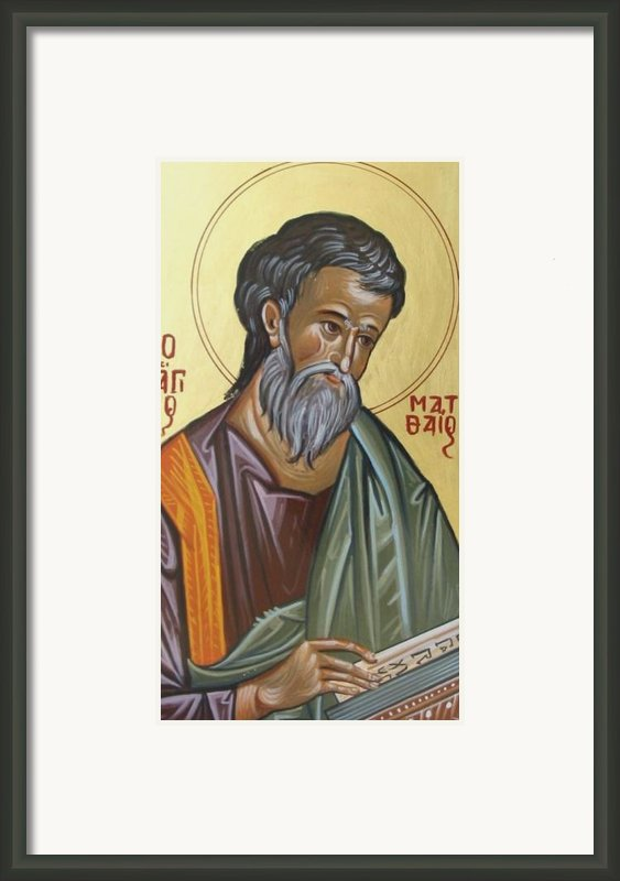 Saint Mathew Framed Print By George Siaba