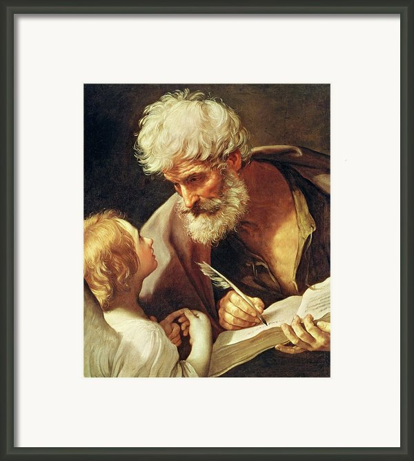 Saint Matthew Framed Print By Guido Reni