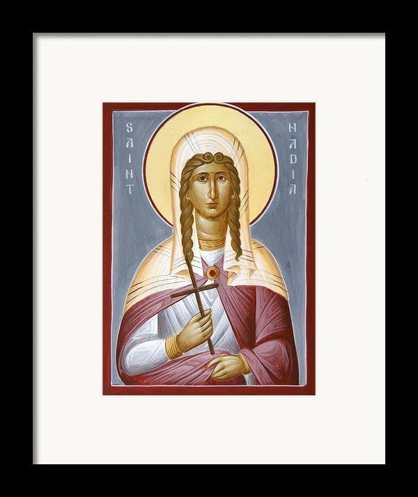 Saint Nadia - Hope Framed Print By Julia Bridget Hayes