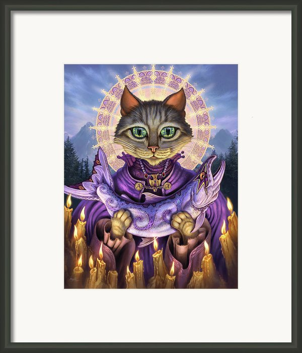 Saint Of Salmons Framed Print By Jeff Haynie