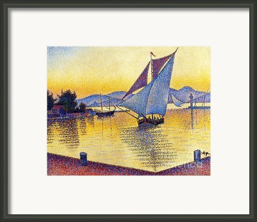 Saint Tropez At Sunset Framed Print By Pg Reproductions