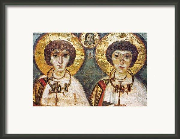 Saints Sergius And Bacchus Framed Print By Granger