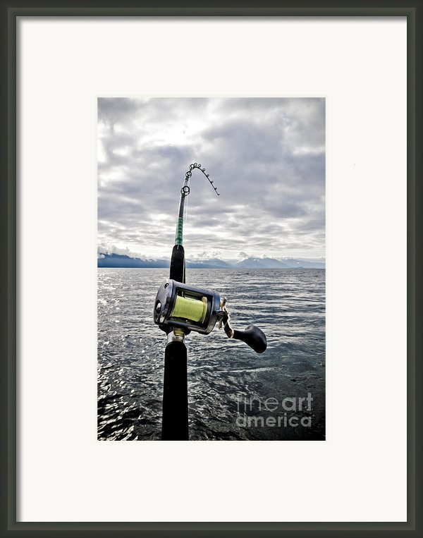 Salmon Fishing Rod Framed Print By Darcy Michaelchuk
