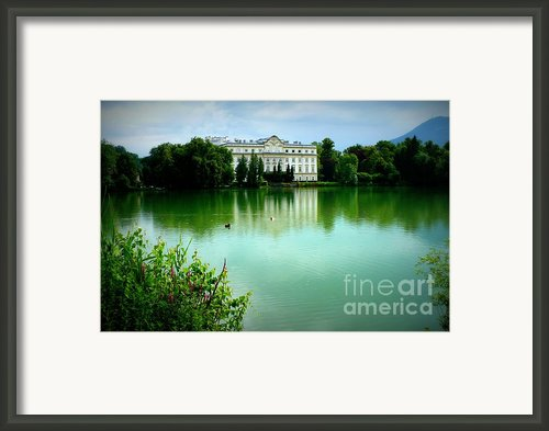 Salzburg Home With Lake Framed Print By Carol Groenen