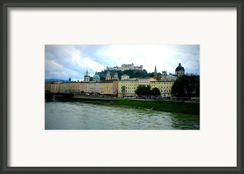 Salzburg Over The Danube Framed Print By Carol Groenen